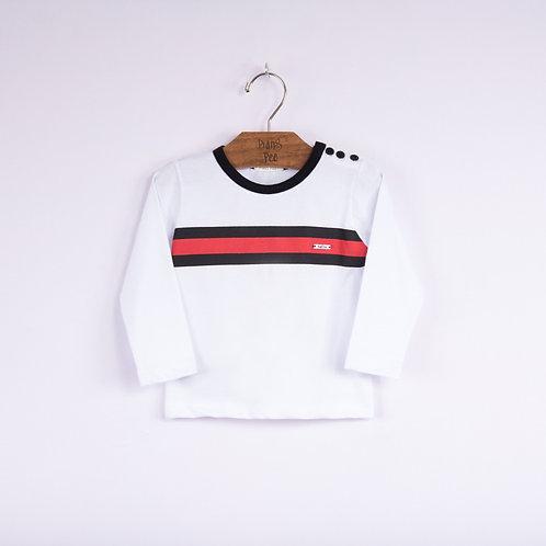 Camiseta Branca com Listras