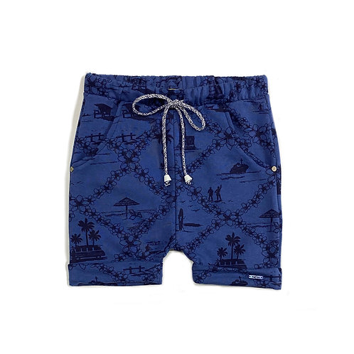 Shorts Azul Estampado
