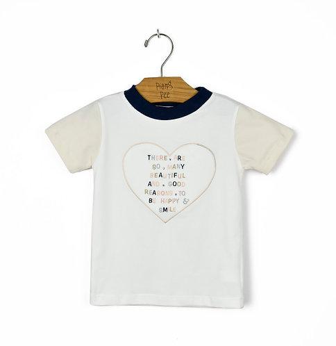 Blusinha Bicolor de Coração