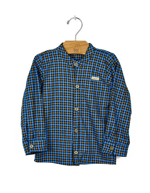 Camisa Xadrez Azul Bic