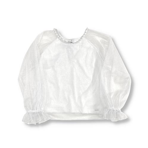 Blusa de Tule com Glitter - 4690