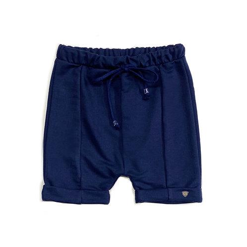 Shorts de Moletom Azul Marinho