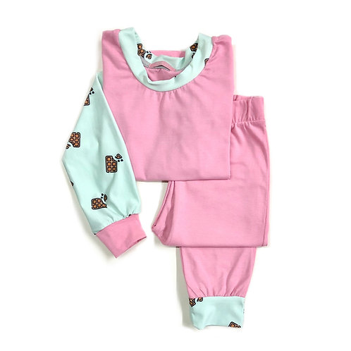 Pijama Rosa de Chocolate