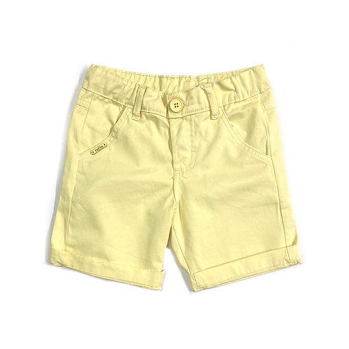 Shorts de Sarja Amarelo Bebê