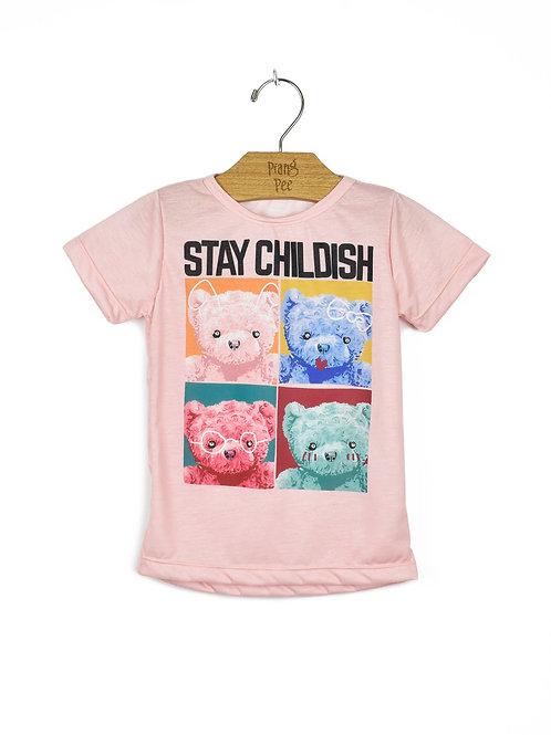 Camiseta Rosa de Ursinhos