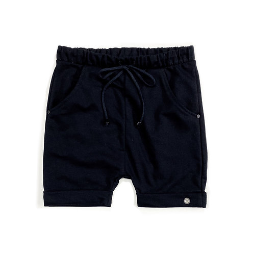 Shorts de Moletom Preto