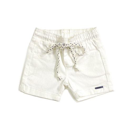 Shorts de Sarja Offwhite