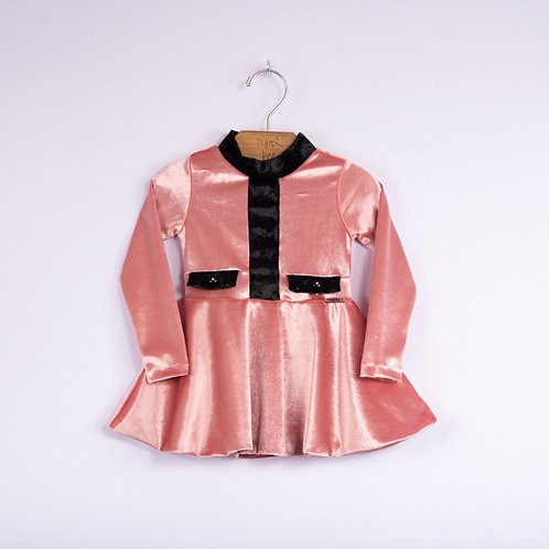 Vestido de Plush Bicolor