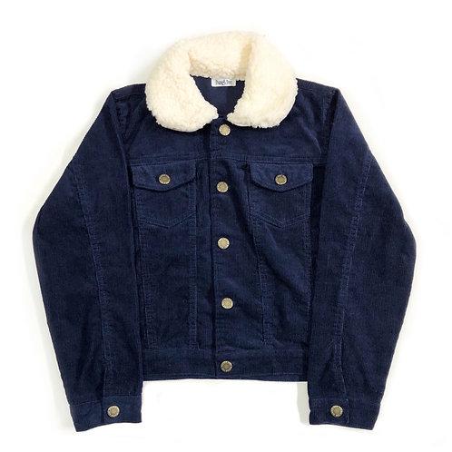 Jaqueta de Veludo Azul Marinho