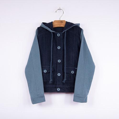 Jaqueta de Veludo com Capuz