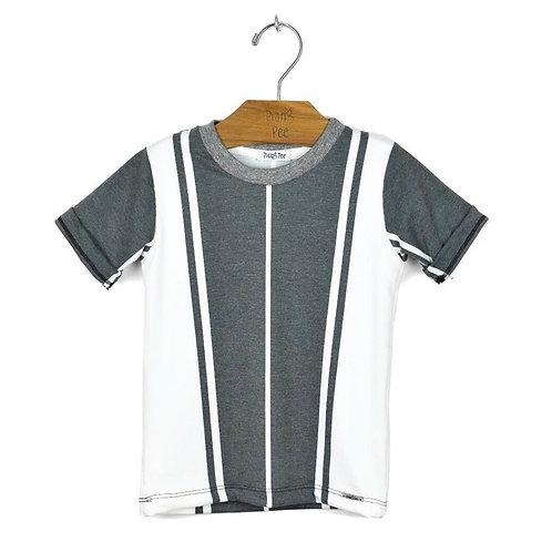 Camiseta Listrada Bicolor