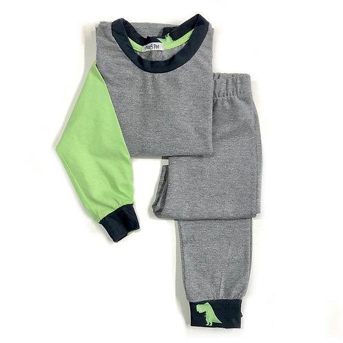 Pijama Verde & Cinza