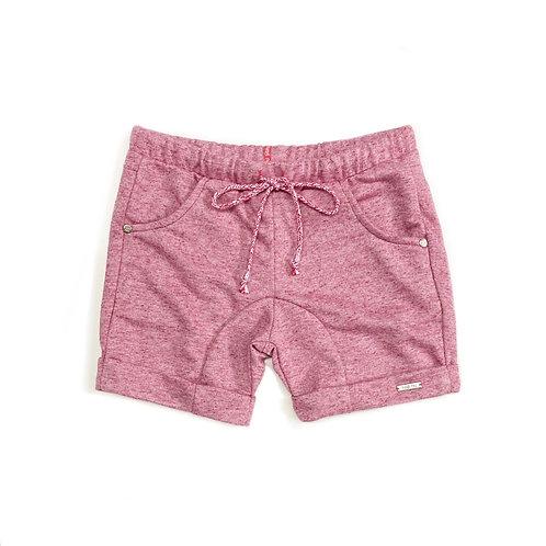 Shorts Mesclado Vermelho