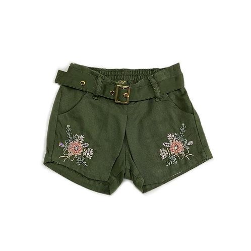 Shorts Saia com Bordados