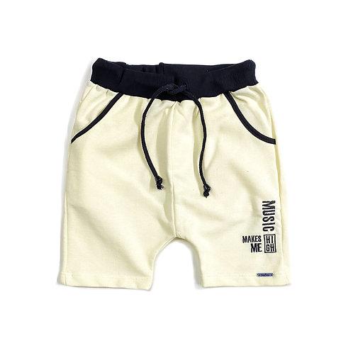 Shorts de Moletom Amarelo Bebê