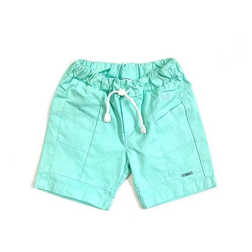 Shorts Verde Água com Cadarço
