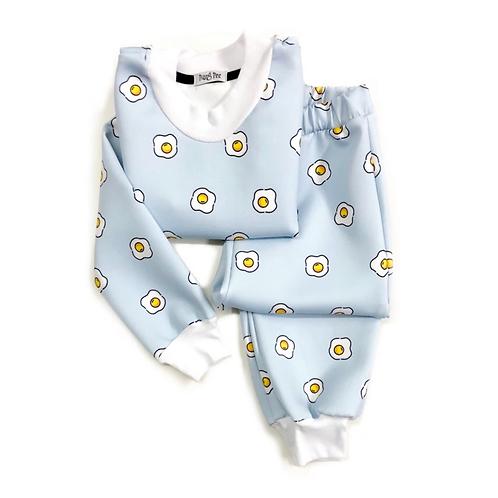 Pijama de Ovinho Azul