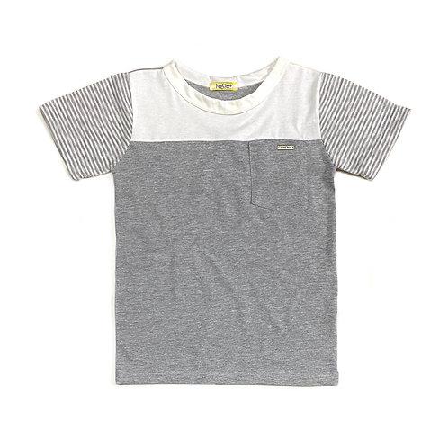 Camiseta Cinza e Offwhite