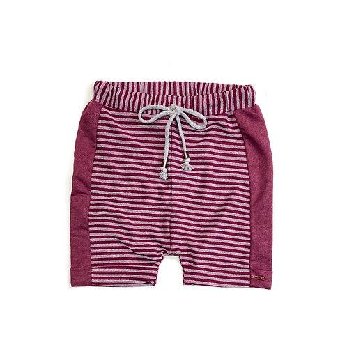 Shorts Marsala Listrado