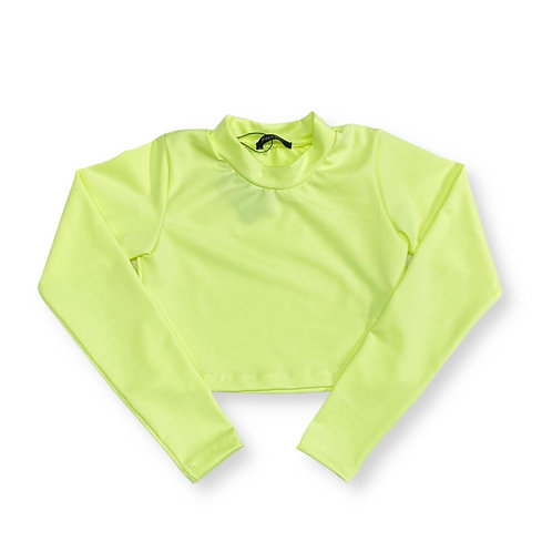 Cropped Neon Amarelo