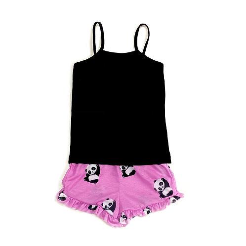 Pijama de Alça de Panda