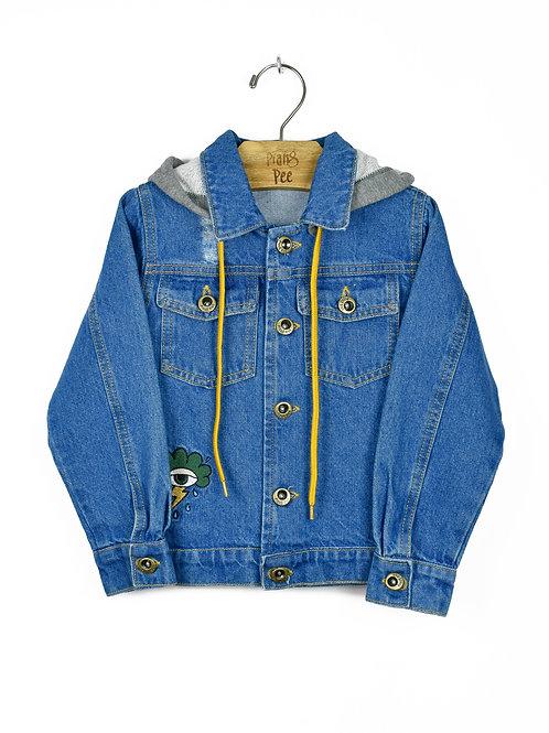 Jaqueta Jeans com Capuz