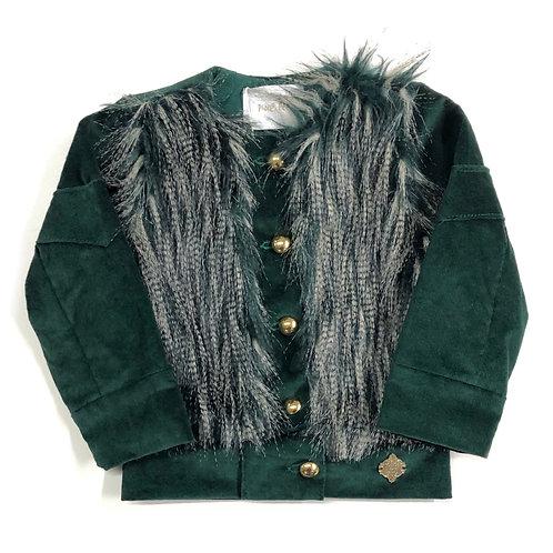 Jaqueta Verde de Pele