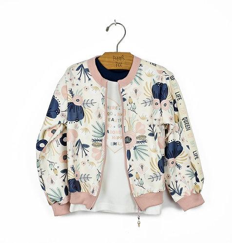 Jaqueta de Neoprene Estampada