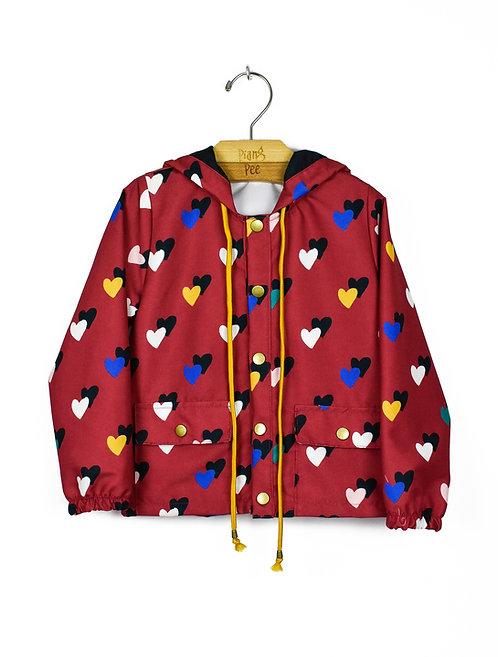 Jaqueta Corta Vento de Corações