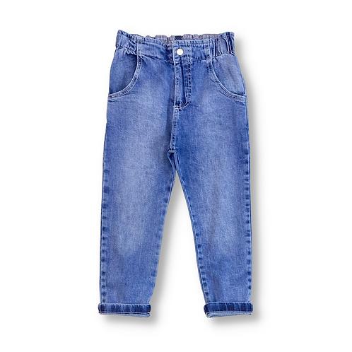 Calça Jeans com Elástico no Cós