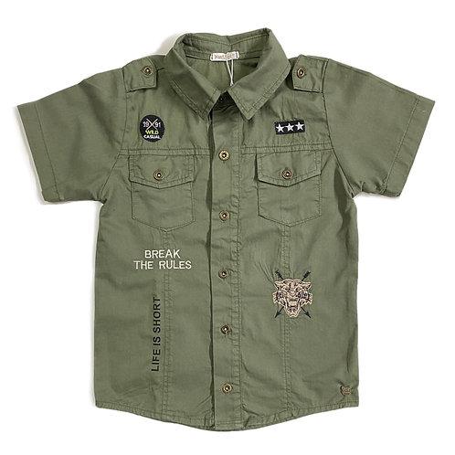 Camisa Militar Bordada