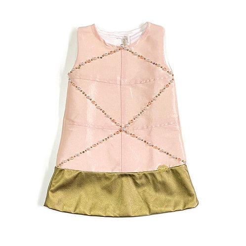 Vestido Rosa e Dourado