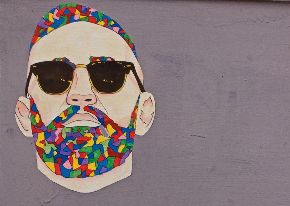Grafitti Man with Sunglasses