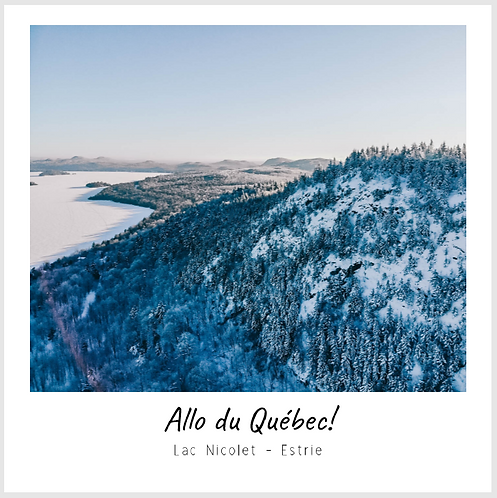 Carte Postale L'hiver au lac