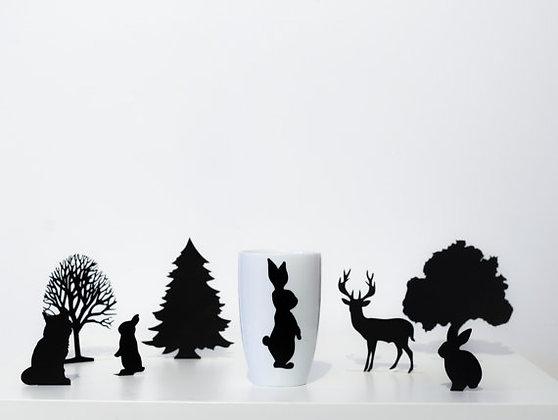 """Forêt enchantée haute """"Lapin"""""""