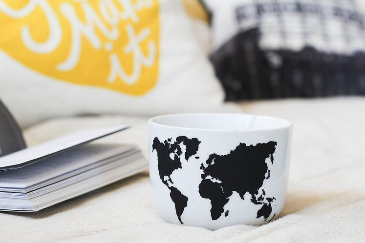 Tasse à latté - Mapemonde