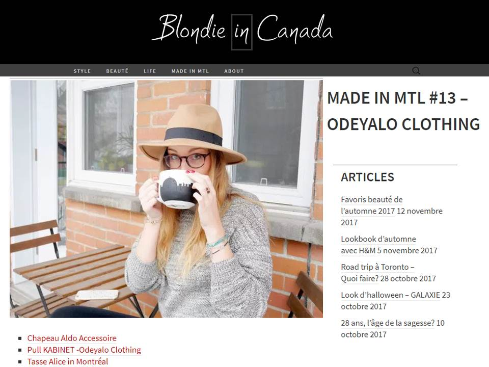Blog Blondie in Canada