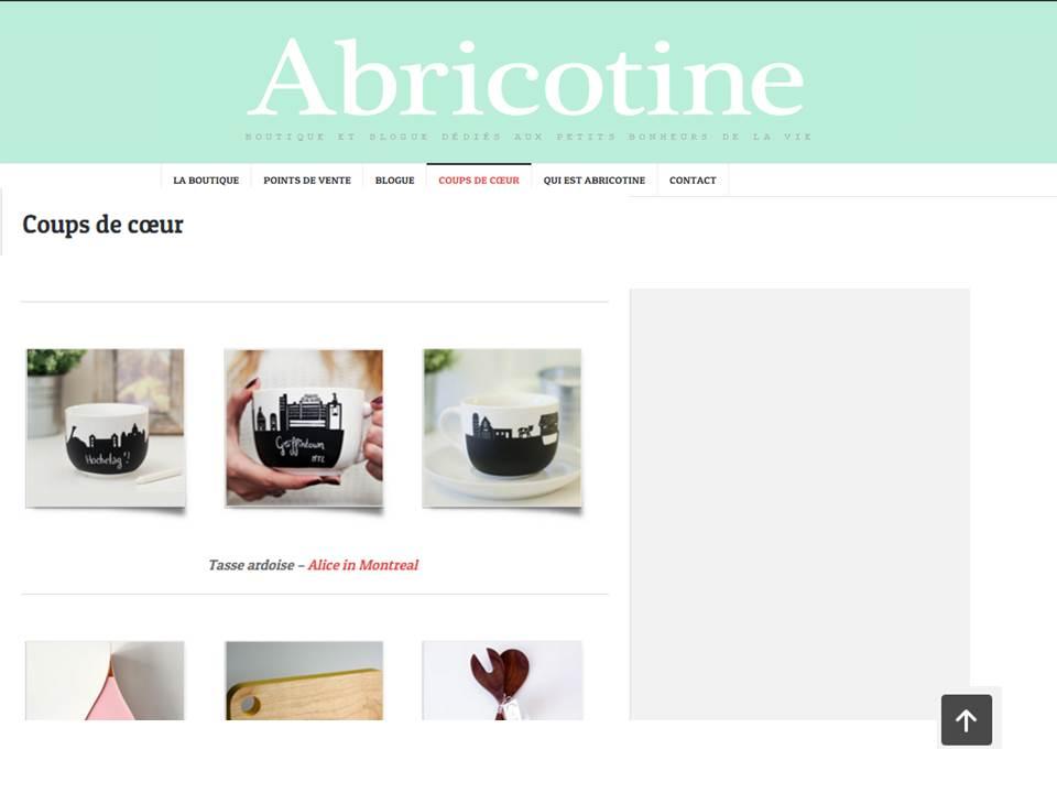 Coup de Cœur du Blog Abricotine