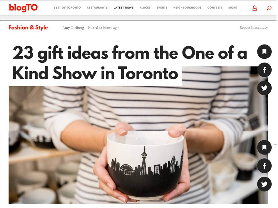 article BlogTo de Toronto