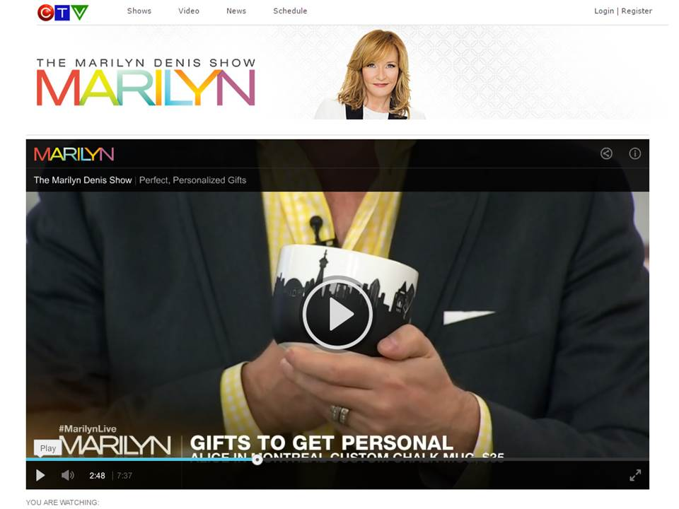 CTV The Marilyn Denis Show May 2016