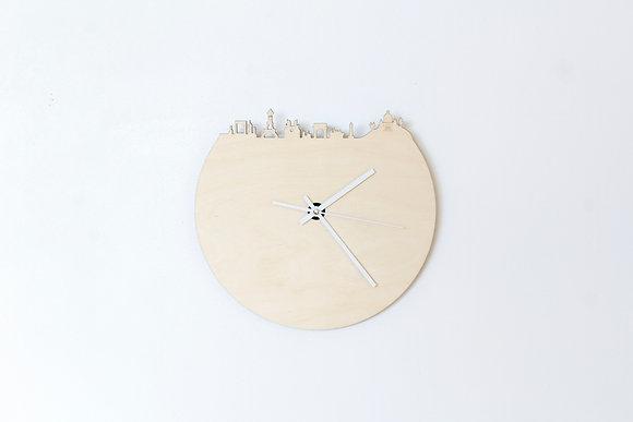 Horloge en bois et ardoise - Paris