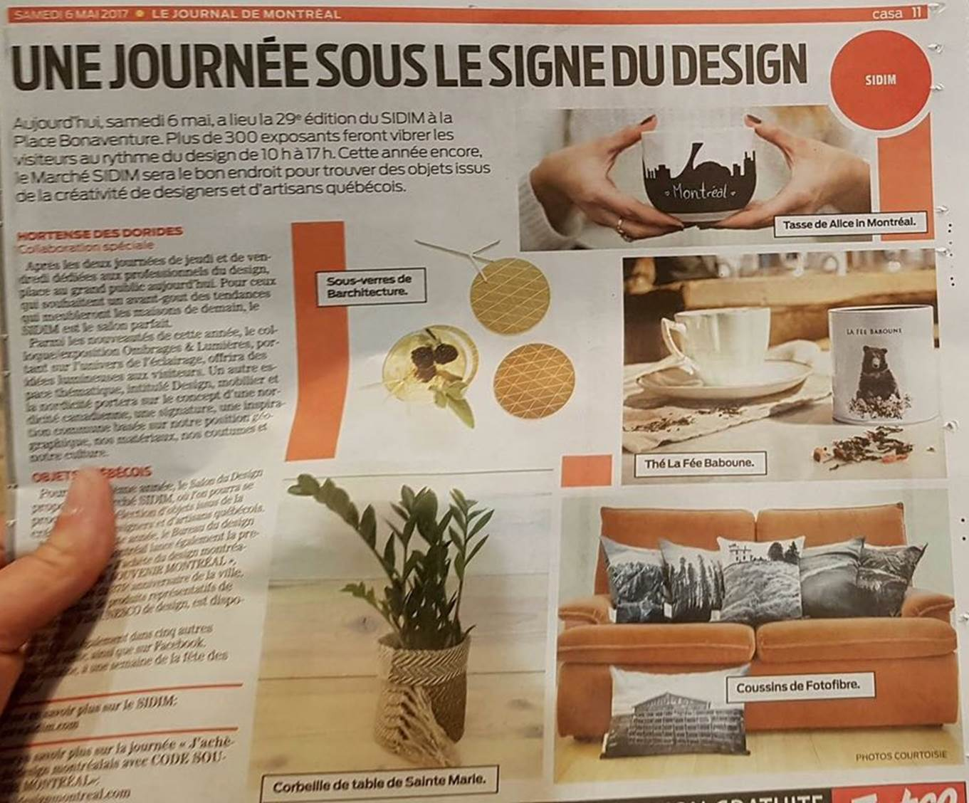 Le Journal de Montreal May 2017