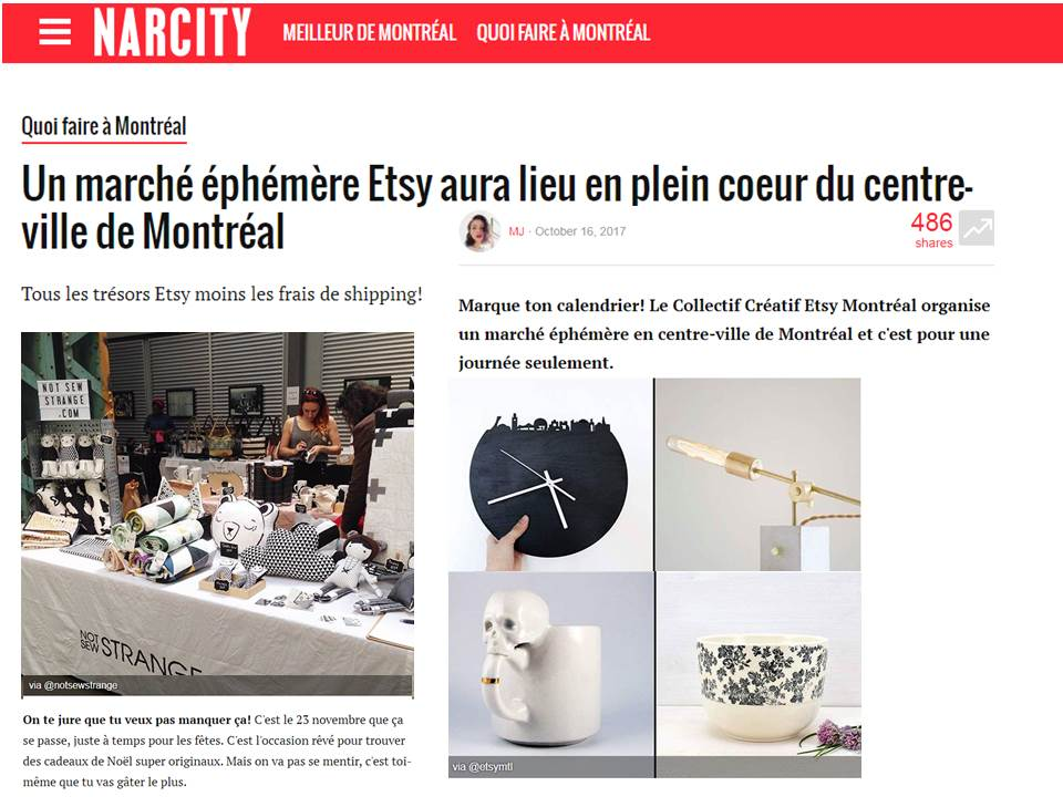 Narcity, article du 16 octobre 2017