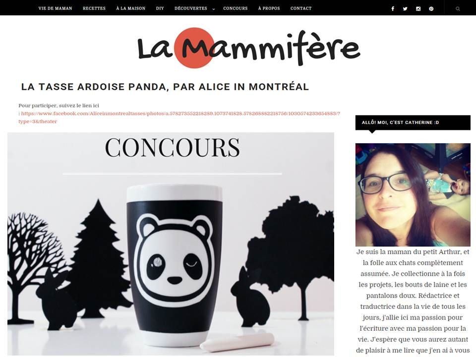 Blog La Mammifère, february 2016