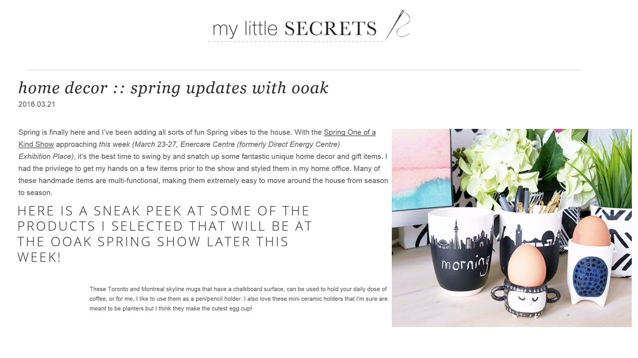 Blog My little secrets, 21 mars 2016