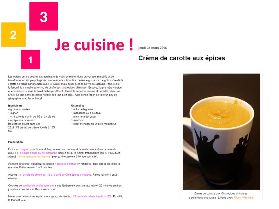 Blog 123 je cuisine, march 2016