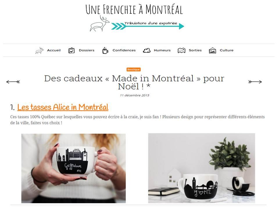 Blog Une Frenchie à Montréal