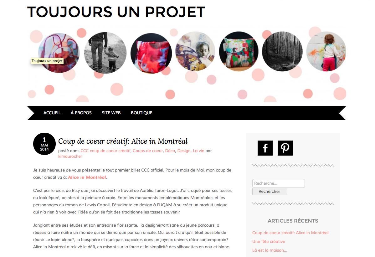 Toujours un projet - Mai 2014