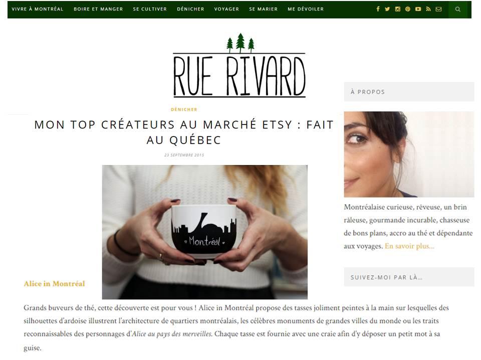 Blog RUE RIVARD