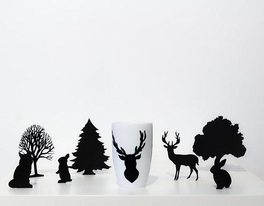 """Forêt enchantée haute """"Cerf"""""""